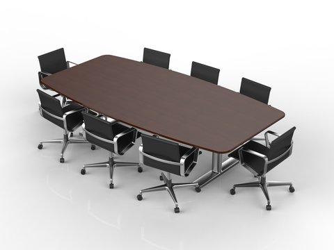会議用机と椅子 前景