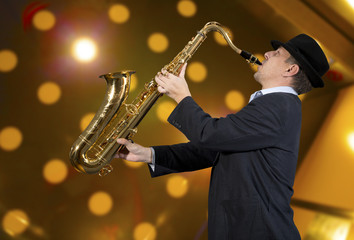 Saxophonist Wall mural