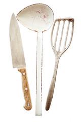 Three retro cooking utensils
