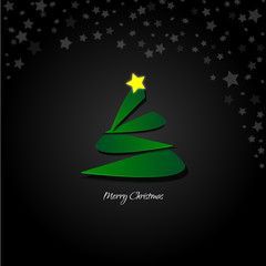 Abstract design - Stylized christmas tree with stars