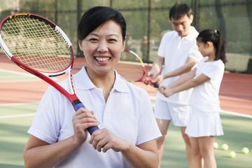 Tennis coach, portrait