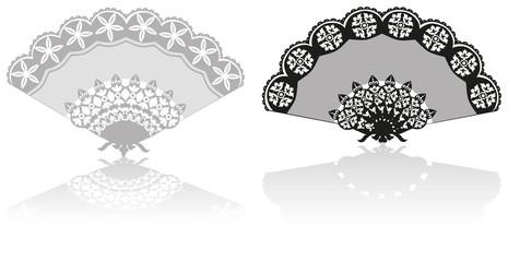 Vector illustration. Rich lace fan
