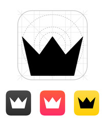Crown King icons. Vector illustration.