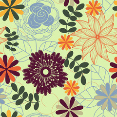 vector seamless flower background