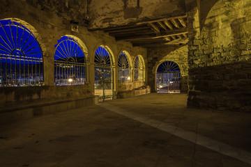 patio iluminado
