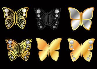 Altın ve gümüş kelebek kolye örnekleri