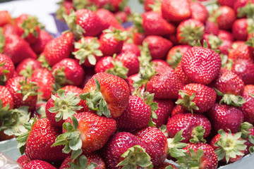 Red Strawberries in Boxes