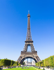 Poster Eiffeltoren The Eiffel Tower in Paris, France