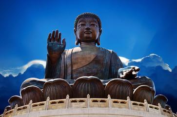 Giant Buddha Statue at Po Lin Monastery, Hong Kong