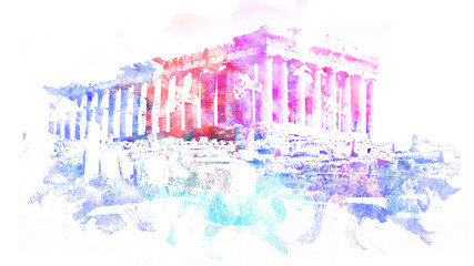 Parthenon Art Sketch