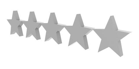 Zero stars rating. Concept 3D illustration.