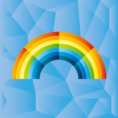 Vector background. Rainbow.