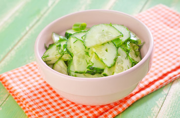 salad with cucumbers