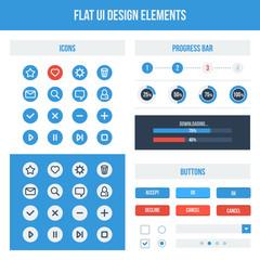 Flat UI design elements