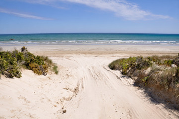Beach in Coorong National park, Southern Australia