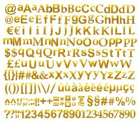 Alphabet reflets Or