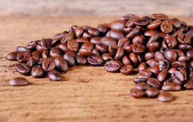 Still life Arabica coffee beans