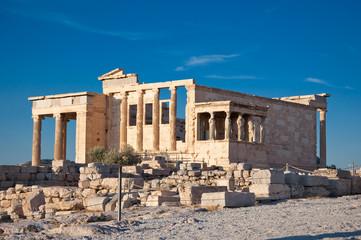 The Erechtheion on Acropolis of Athens.