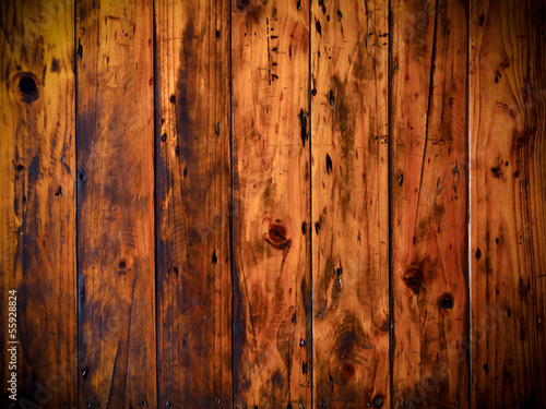 Wall mural Grunge old wood panels for background