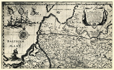 Livonia on the 1613 map (Amsterdam)