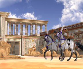 Egyptian Nobility on Horseback