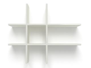 two empty shelves