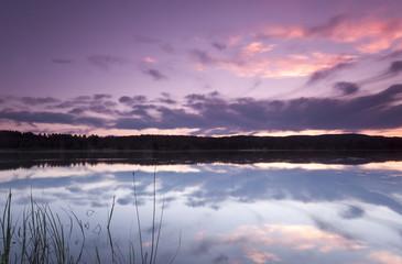Lake saxen, Dalarna, Sweden, calm water