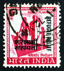 Postage stamp India 1967 Family, Family Planning