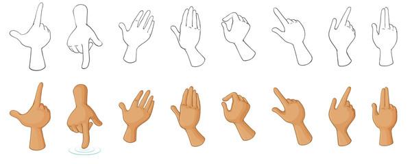 Different hand gestures
