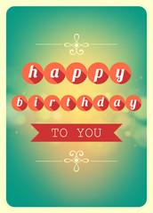 Happy birthday card, Vector illustration.