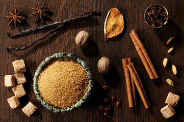 Brown sugar and spices