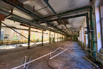 Fabrik, Industrie, Gelände, Ruine