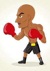 Cartoon illustration of a boxer