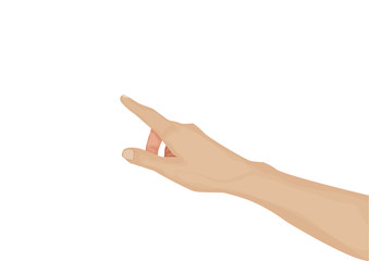hand pressing white background vector eps10