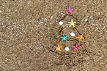 Christmas and New Year 2014 on the beach