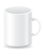 white blank cup vector illustration