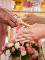 Thai wedding ceremony engagement.
