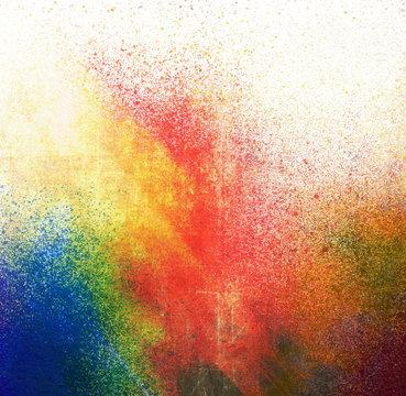 Splatter paint colorful background