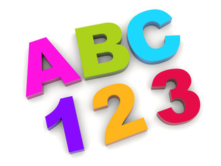 ABC - 123. Letters and numbers