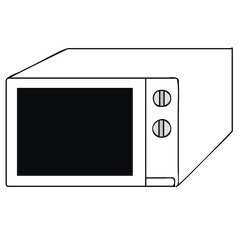 microwave vector illustration