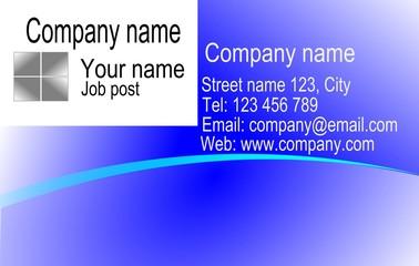 Business card design ilustration