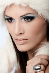 Glamorous woman with professional makeup