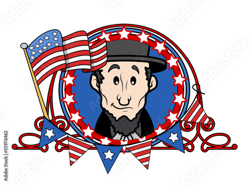 Abraham Lincoln Cartoon Vector Illustration Stock Image And