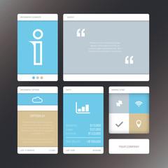 Vector illustration minimal infographic flat ui design elements