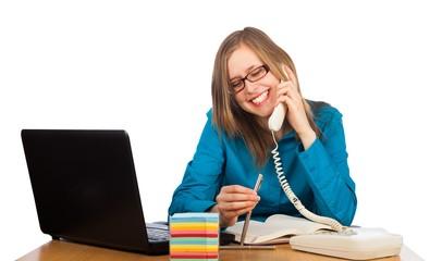 Joyful phone call
