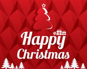 Christmas Greeting Card. Christmas tree.