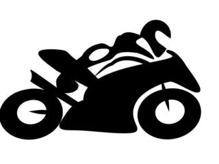 Fototapete - Motorrad Rennen Tribal BW