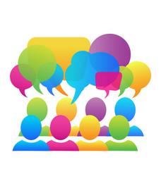 Social media network speech bubbles business logo