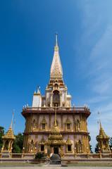 Pagoda,Wat Chalong temple,Phuket,Thailand