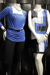 Stock image of fashionable mannequins